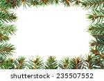 christmas green framework... | Shutterstock . vector #235507552