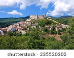 panoramic view of brienza.... | Shutterstock . vector #235520302