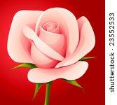 vector  pink rose | Shutterstock .eps vector #23552533