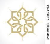 geometric radiant arabic pattern | Shutterstock .eps vector #235531966