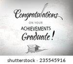 congratulations achievement... | Shutterstock .eps vector #235545916