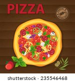 delicious pizza poster design... | Shutterstock .eps vector #235546468