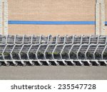 Shopping Carts Stored Outside A ...