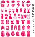 big set of vector female...   Shutterstock .eps vector #235550452