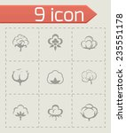 vector cotton icon set on grey... | Shutterstock .eps vector #235551178
