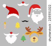 christmas photo booth and ... | Shutterstock .eps vector #235551322
