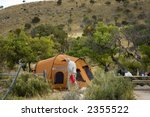Senior In Camping Ground  In...