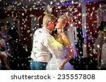 closeup portrait of confetti...   Shutterstock . vector #235557808