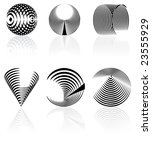 vector black and white abstract ...   Shutterstock .eps vector #23555929
