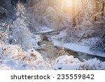 Winter Landscape Of Snow...