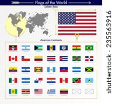 north american and south...   Shutterstock .eps vector #235563916