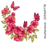 flowers and butterfly. vector... | Shutterstock .eps vector #235569778