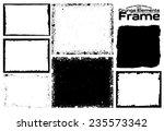 grunge frame set texture  ... | Shutterstock .eps vector #235573342