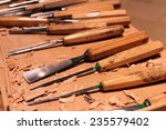 wood carver's set of wood... | Shutterstock . vector #235579402