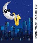 Half Moon Playing Saxophone...