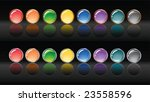 circle shiny buttons with gold... | Shutterstock .eps vector #23558596