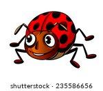 funny little ladybug in cartoon ...