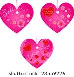 set of three valentine's day... | Shutterstock .eps vector #23559226