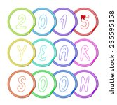 vector illustration  set of...   Shutterstock .eps vector #235595158