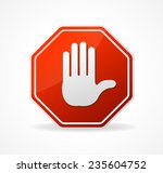 stop sign red isolated on... | Shutterstock . vector #235604752