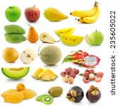 set of fruit on white background | Shutterstock . vector #235605022