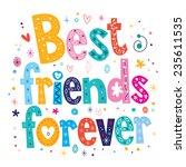 best friends forever | Shutterstock .eps vector #235611535
