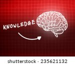 knowledge brain background... | Shutterstock . vector #235621132