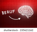 beruf brain background... | Shutterstock . vector #235621162