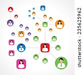 social network concept with... | Shutterstock .eps vector #235625962