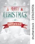 merry christmas landscape card  ... | Shutterstock .eps vector #235634056