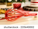 red colorful whisk for whipping ...