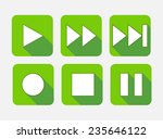 modern flat square vector icon...