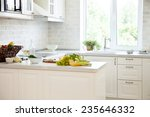 classical white kitchen at home ... | Shutterstock . vector #235646332