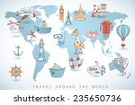 travel set. icons collection on ... | Shutterstock .eps vector #235650736