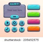 set of stone cartoon elements... | Shutterstock .eps vector #235652575