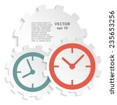 the clock idea poster. vector...