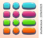set of bright funny buttons...