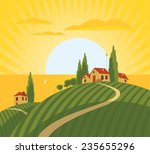 Landscape With Vineyard And...