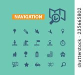 navigation  map  route icons... | Shutterstock .eps vector #235665802