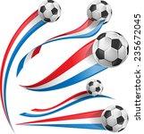 france and netherlands flag set ... | Shutterstock .eps vector #235672045