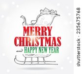 christmas greeting card. happy... | Shutterstock .eps vector #235675768