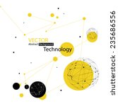 abstract technology background | Shutterstock .eps vector #235686556