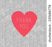 """thank you"" card with heart... 