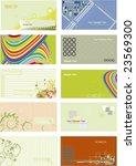 collection business cards... | Shutterstock .eps vector #23569300