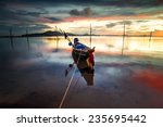 the fisherman's boat after... | Shutterstock . vector #235695442