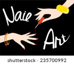 nail art. vector illustration | Shutterstock .eps vector #235700992