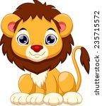 Stock vector cute lion cartoon 235715572