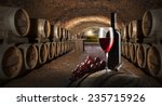 still life with red wine in old ... | Shutterstock . vector #235715926