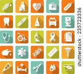 flat medical icons with long... | Shutterstock .eps vector #235723336