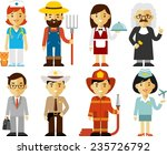 different people professions... | Shutterstock .eps vector #235726792